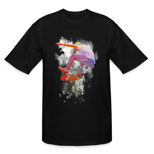 Skating over the city - Men's Tall T-Shirt