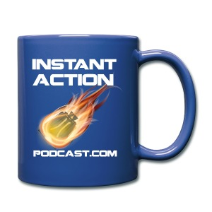 Official Instant Action Podcast New Conglomerate Blue Coffee Mug - Full Color Mug