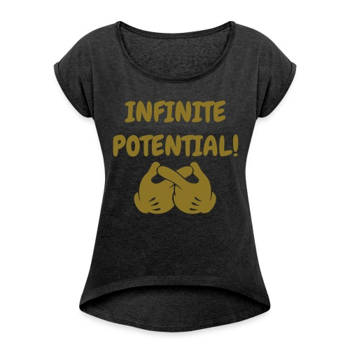Ladies Rolled Sleeve Infinity Tee! - Women's Roll Cuff T-Shirt