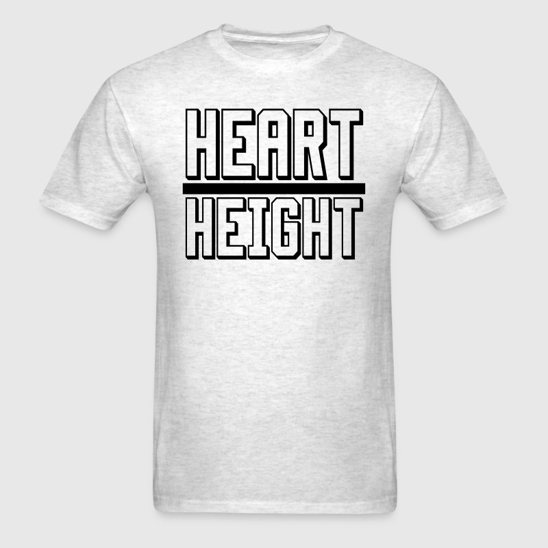 Heart over Height shirt - Men's T-Shirt