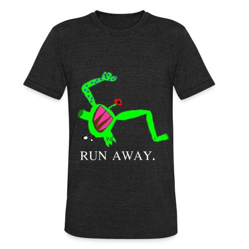Tago Run Away T-Shirt - Unisex Tri-Blend T-Shirt