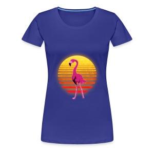 Neon Flamingo (Womens) - Women's Premium T-Shirt