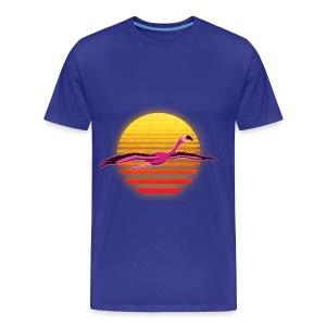 Neon Flamingo 3: Flight (Mens) - Men's Premium T-Shirt