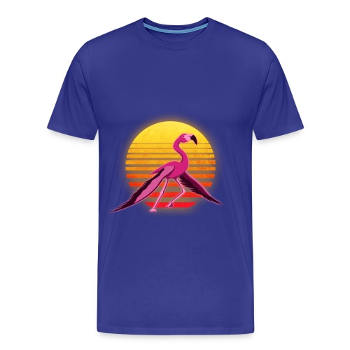 Neon Flamingo 2: Takeoff (Mens) - Men's Premium T-Shirt