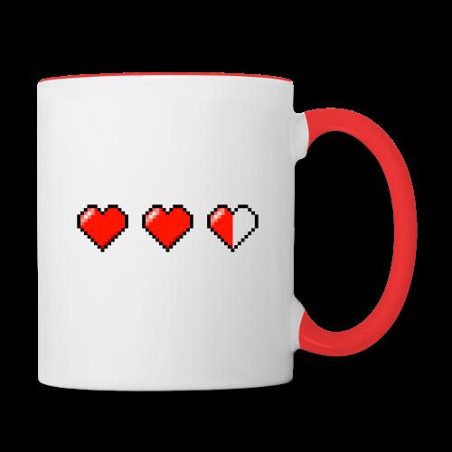 Pixel Hearts Mug - Contrast Coffee Mug