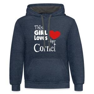 This Girl Loves Her Cornet - Contrast Hoodie