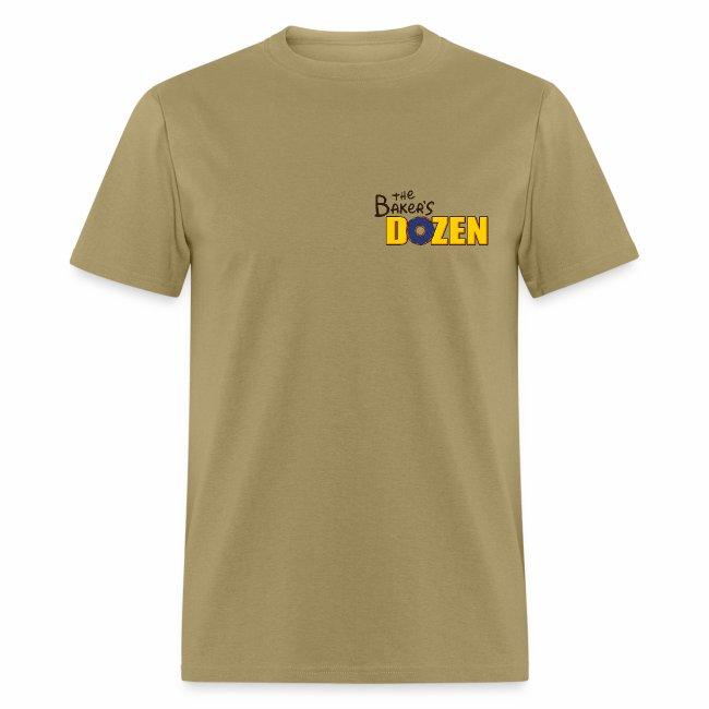 The Baker's D'OHzen Men's T-shirt (front lapel & back)