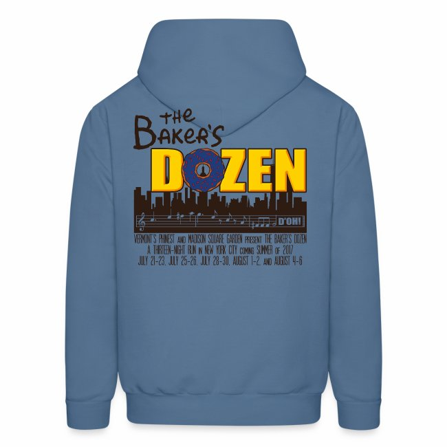 The Baker's D'OHzen Hoodie (front lapel & back)