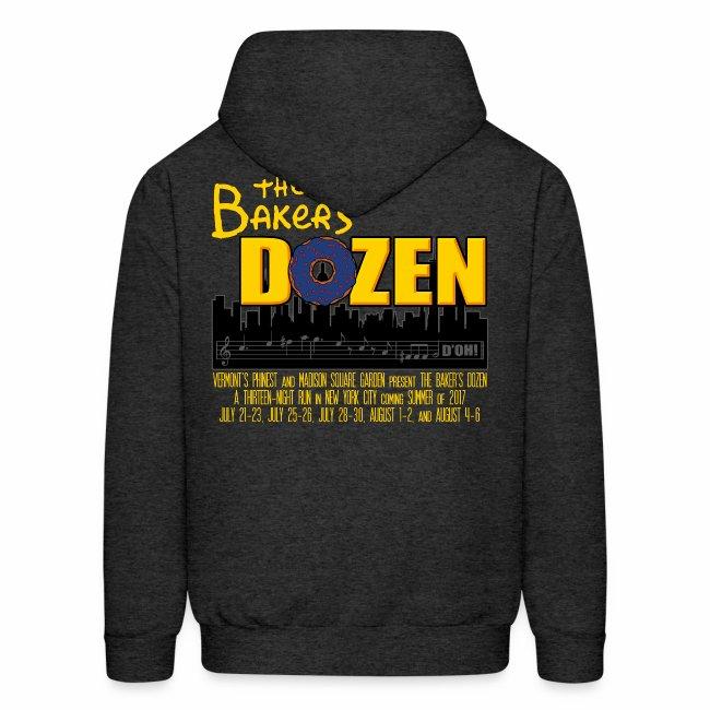 The Baker's D'OHzen Hoodie (front lapel & back)