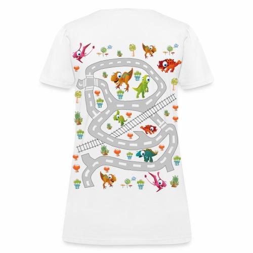 Dino 1. Women's T-shirt. Print in back. - Women's T-Shirt