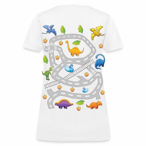 Dino 2. Women's T-shirt. Print in back. - Women's T-Shirt
