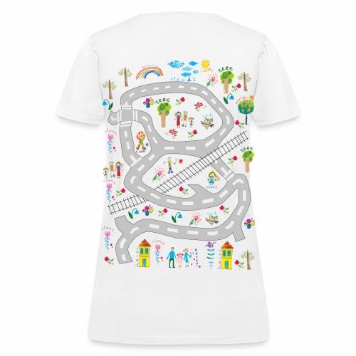 Family. Women's T-shirt. Print in back. - Women's T-Shirt