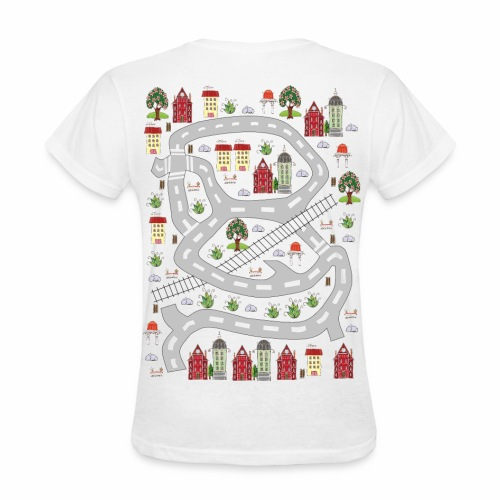 French houses. Women's T-shirt. Print in back. - Women's T-Shirt