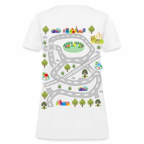 Colorful houses. Women's T-shirt. Print in back. - Women's T-Shirt