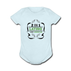 Two in One Latino and American - Babies - Short Sleeve Baby Bodysuit
