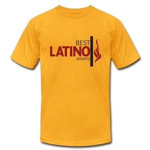 Best Latino Amante - Men - Men's T-Shirt by American Apparel