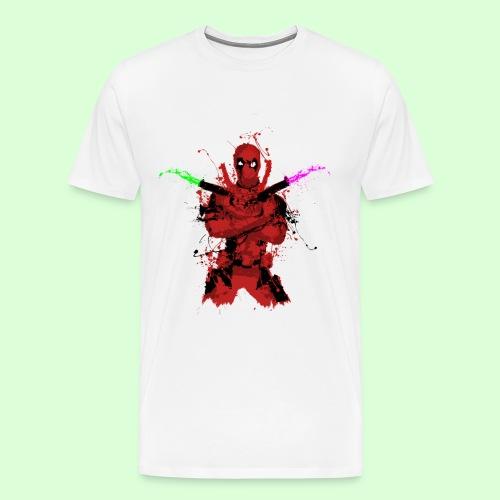 The Deadpool Splash (Men's T - White) - Men's Premium T-Shirt