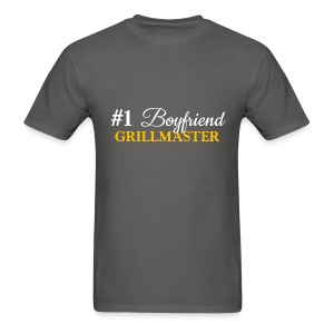 #1 Boyfriend Grey Shirt - Men's T-Shirt