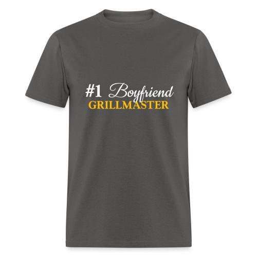 #1 Boyfriend Grey Shirt - Men's T-Shirt