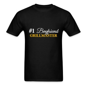 #1 Boyfriend Black Shirt - Men's T-Shirt