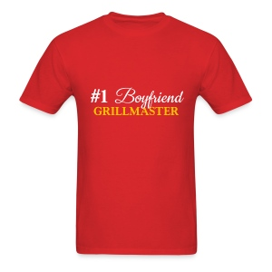 #1 Boyfriend Red Shirt - Men's T-Shirt