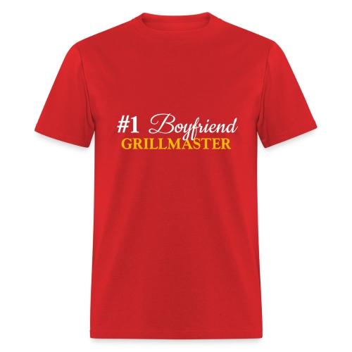 #1 Boyfriend Red Shirt - Men's T-Shirt
