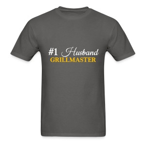 #1 Husband Grey Shirt - Men's T-Shirt
