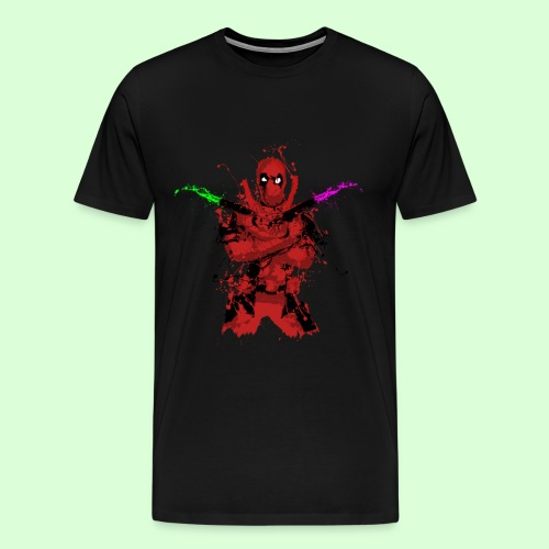 The Deadpool Splash (Men's T - Black) - Men's Premium T-Shirt