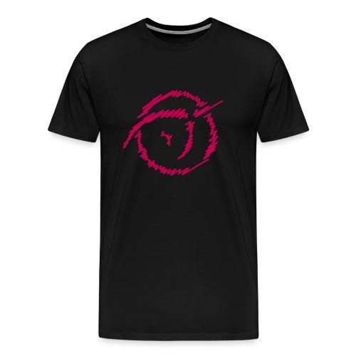 Men's Premium T-Shirt - Magenta IPU doodle logo