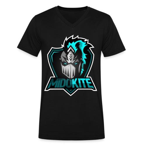 Logo - Men's V-Neck T-Shirt by Canvas - Men's V-Neck T-Shirt by Canvas