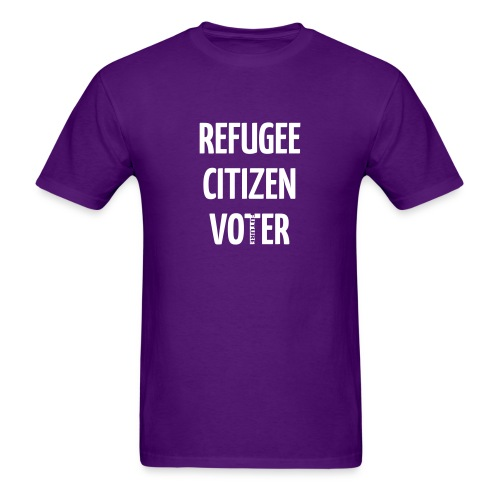 REFUGEE FUTURE VOTER T-SHIRT - Men's T-Shirt