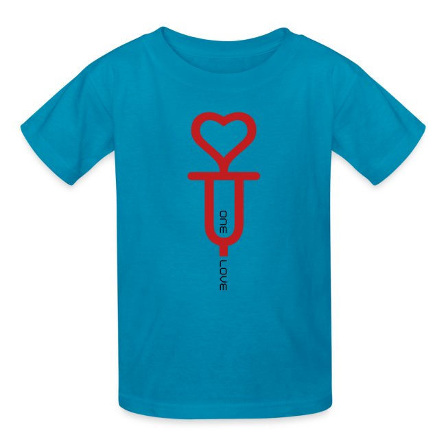 ONE LOVE - front print red/black velvet - xs/l kids - multi colors