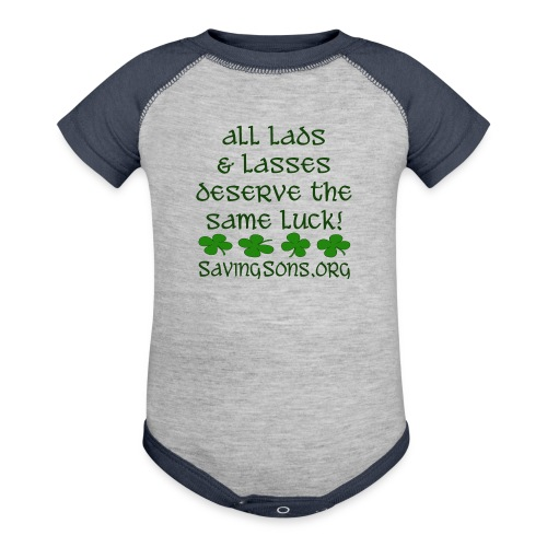 All Lads & Lasses - Contrast Baby Bodysuit