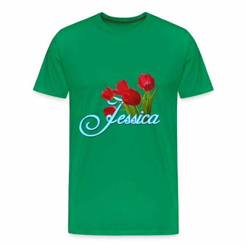 Jessica With Tulips - Men's Premium T-Shirt