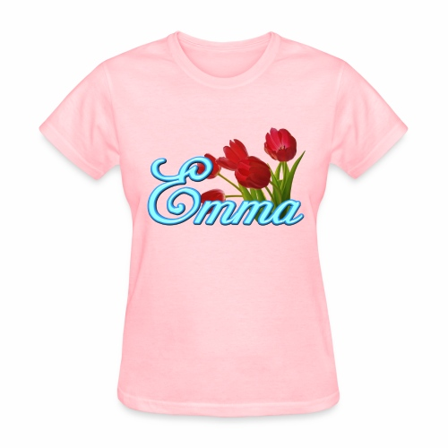 Emma With Tulips - Women's T-Shirt