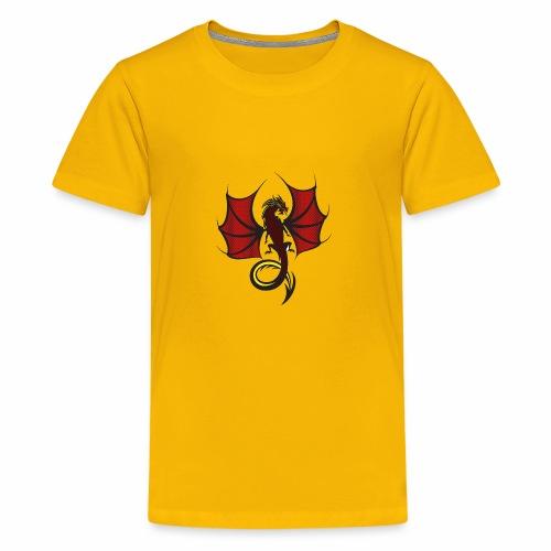 Red and Black Dragon - Kids' Premium T-Shirt