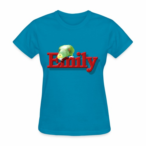 Emily With a Parrot  - Women's T-Shirt