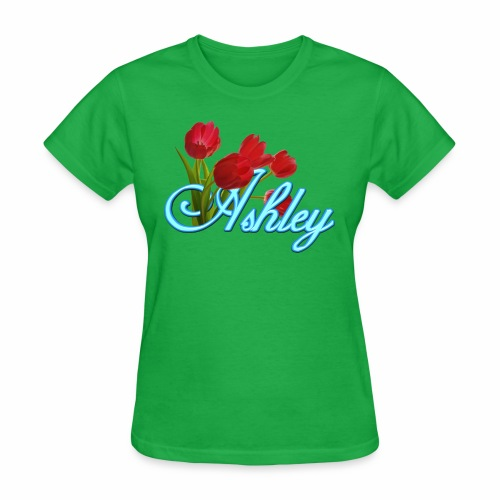 Ashley With Tulips - Women's T-Shirt