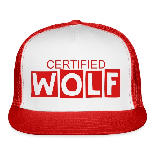 WOLF RED SNAP BACK - Trucker Cap