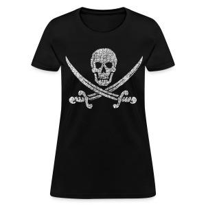 Distressed Jolly Roger - Women's T-Shirt