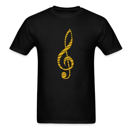 Music Lover Men's T-Shirt Golden Music Key Symbol - Men's T-Shirt