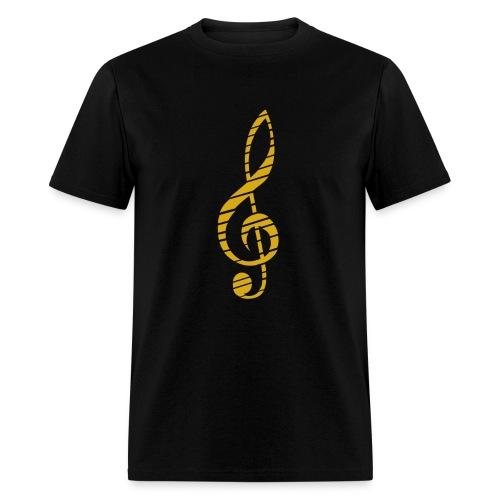 Music Lover Men's T-Shirt Golden Music Key Symbol - Men's T-Shirt