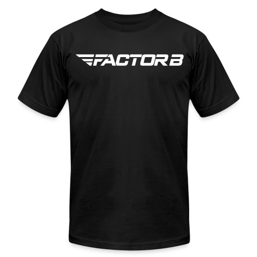 Factor B Word Black - Men's Fine Jersey T-Shirt