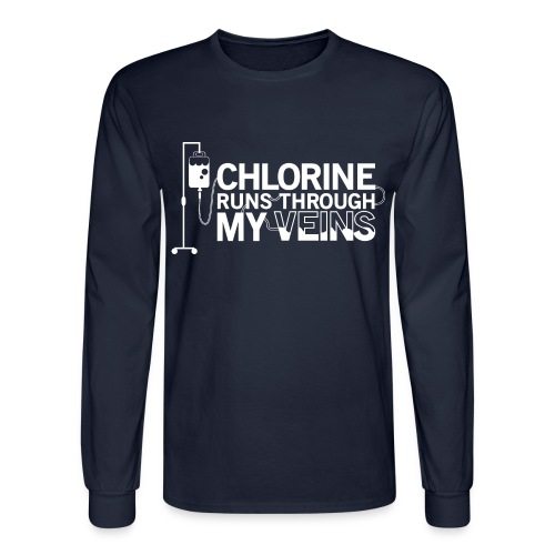Chlorine Runs Through My Veins - Long Sleeve - Men's Long Sleeve T-Shirt