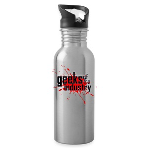 Geeks of the Industry Blood Splatter logo Water Bottle - Water Bottle