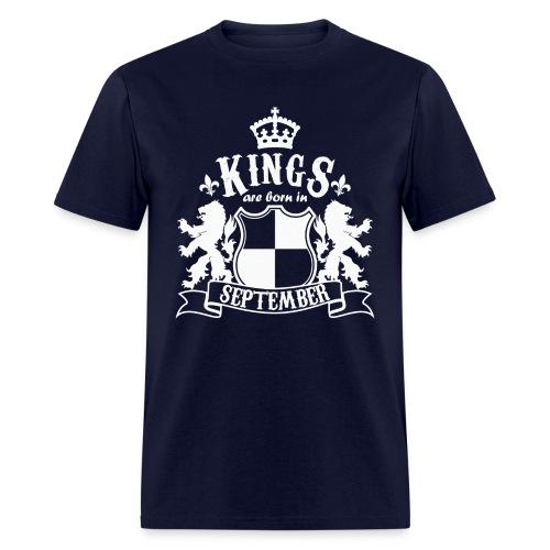 Kings are born in September - Men's T-Shirt