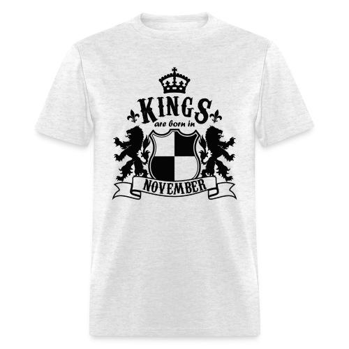 Kings are born in November - Men's T-Shirt