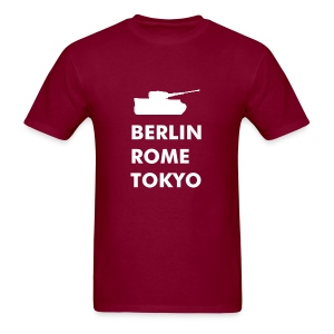 City T-Shirt: Berlin, Rome, Tokyo (with Tank logo) - Men's T-Shirt