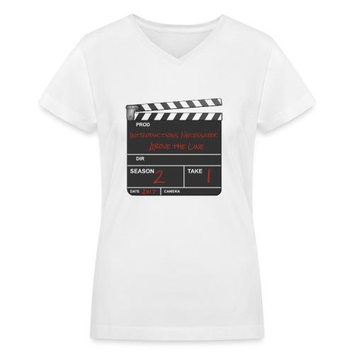 IN: Above The Line Women's V-Neck Shirt - Women's V-Neck T-Shirt