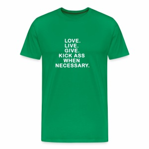 Love. Live. Give. - Men's Premium T-Shirt